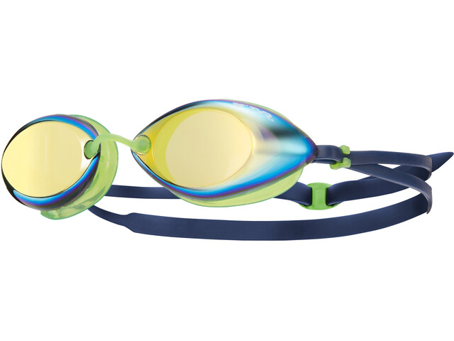 TYR Tracer Racing Mirrored Svømmebriller Herrer grøn/blå